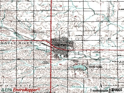 Carroll topographic map
