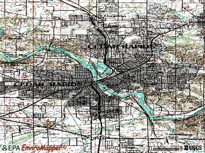 Cedar Rapids topographic map