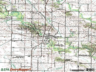 Central City topographic map