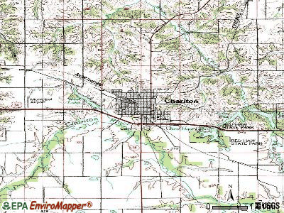 Chariton topographic map