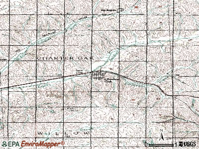 Charter Oak topographic map