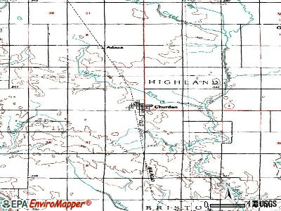 Churdan topographic map