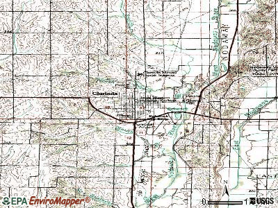 Clarinda topographic map