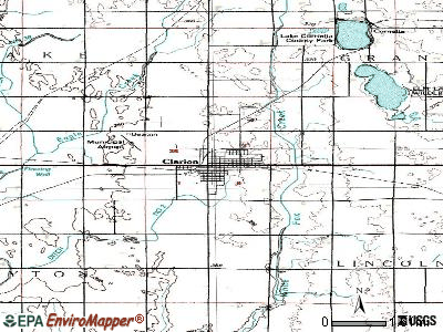 Clarion topographic map
