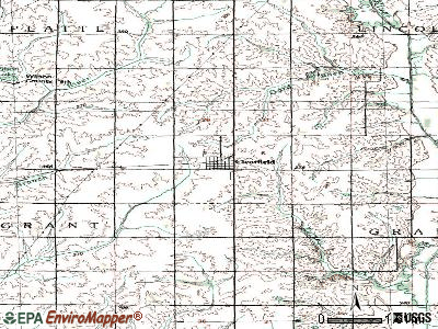 Clearfield topographic map