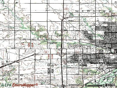 Clive topographic map