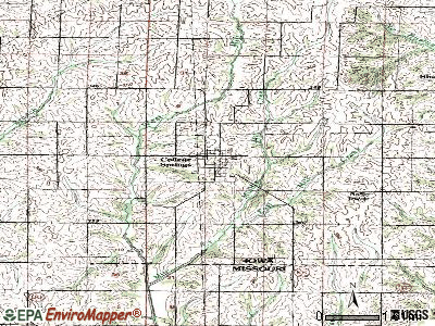 College Springs topographic map