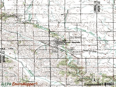 Coon Rapids topographic map