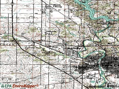 Coralville topographic map
