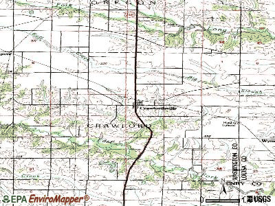 Crawfordsville topographic map