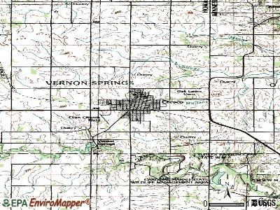 Cresco topographic map