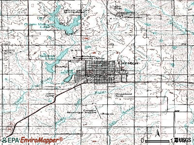 Creston topographic map