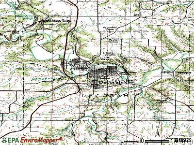 Decorah topographic map