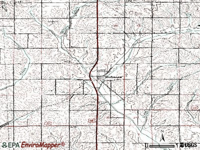 Defiance topographic map