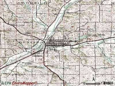 Denison topographic map