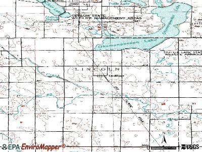 Dike topographic map