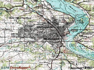 Dubuque topographic map