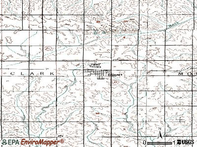 Dysart topographic map