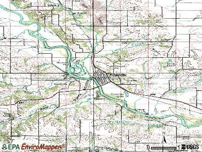 Eddyville topographic map