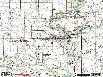 Eldora topographic map