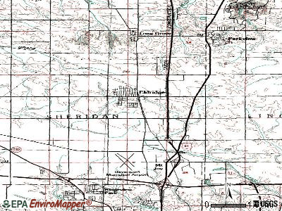 Eldridge topographic map
