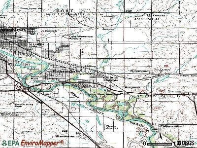 Elk Run Heights topographic map