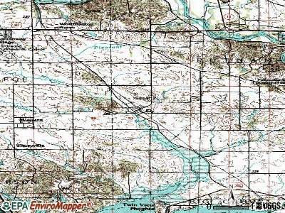 Ely topographic map