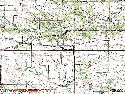 Epworth topographic map