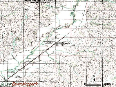 Essex topographic map