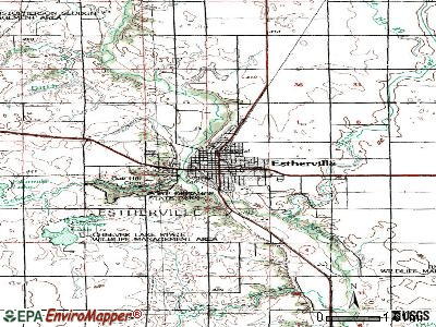 Estherville topographic map