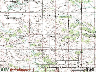 Exline topographic map