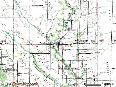 Fairbank topographic map