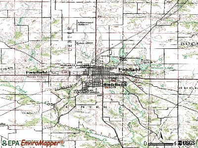 Fairfield topographic map