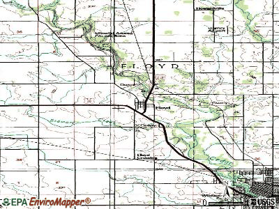 Floyd topographic map