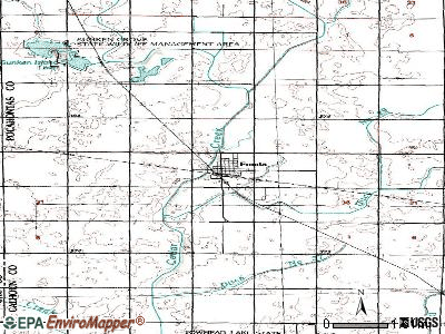 Fonda topographic map