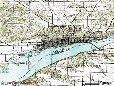 Fort Madison topographic map