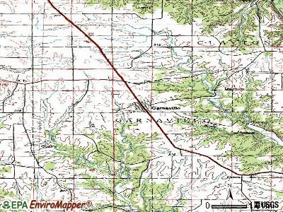 Garnavillo topographic map