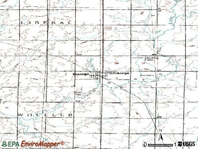 George topographic map