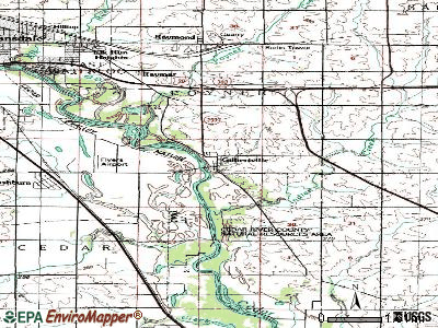Gilbertville topographic map