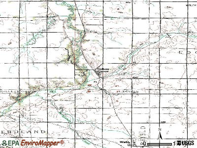 Gillett Grove topographic map