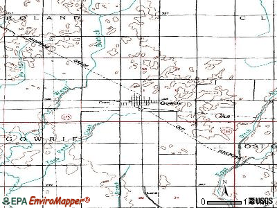 Gowrie topographic map