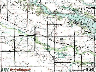 Granger topographic map