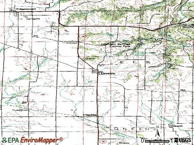 Greeley topographic map