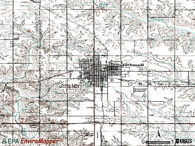 Grinnell topographic map