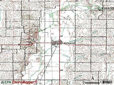 Griswold topographic map
