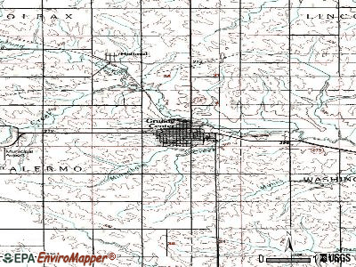 Grundy Center topographic map