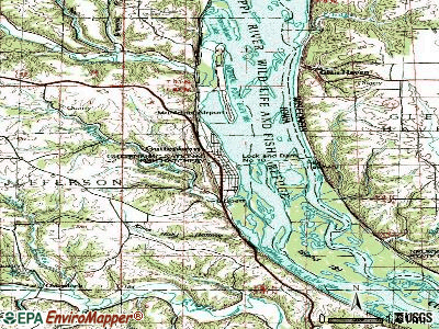 Guttenberg topographic map