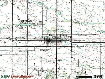Hampton topographic map