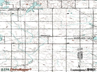 Harris topographic map