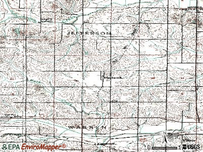 Hartwick topographic map